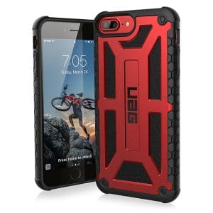 UAG iPhone 8 Plus Monarch Feather-Light Rugged [CRIMSON] Case